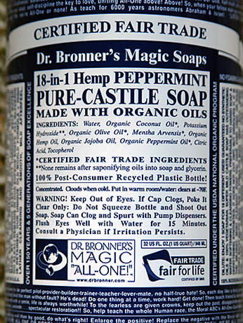 Dr. Bronner's Peppermint Liquid Soap - DBPS8