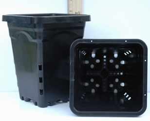 Plastic Full-Featured Square Pot