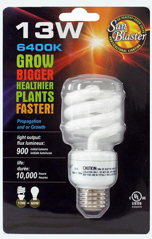 Hydrofarm Sunblaster 13w Cfl Bulb Cfl13w