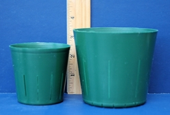 Green Slitted Pots
