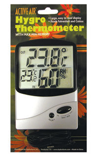 Hygro-Thermometer with Max-Min Memory