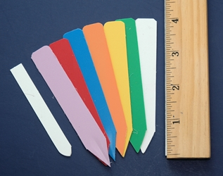 Labels - Colored Plastic (Small - Plain)