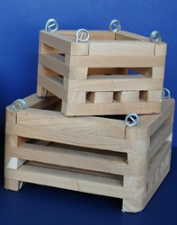 Wood Baskets - Square - Cedar