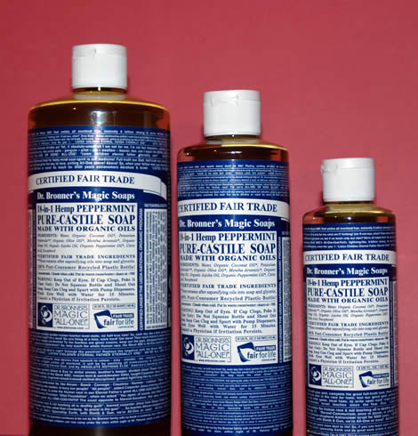 Dr. Bronners Peppermint Liquid Soap