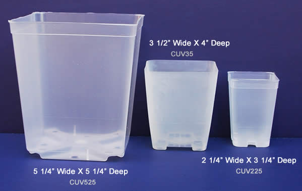See-Thru Square Pots