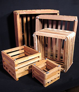Wood Baskets - Square